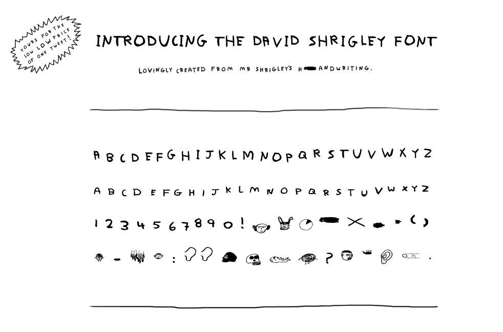 essay drugs andy leek david shrigley font interactive image