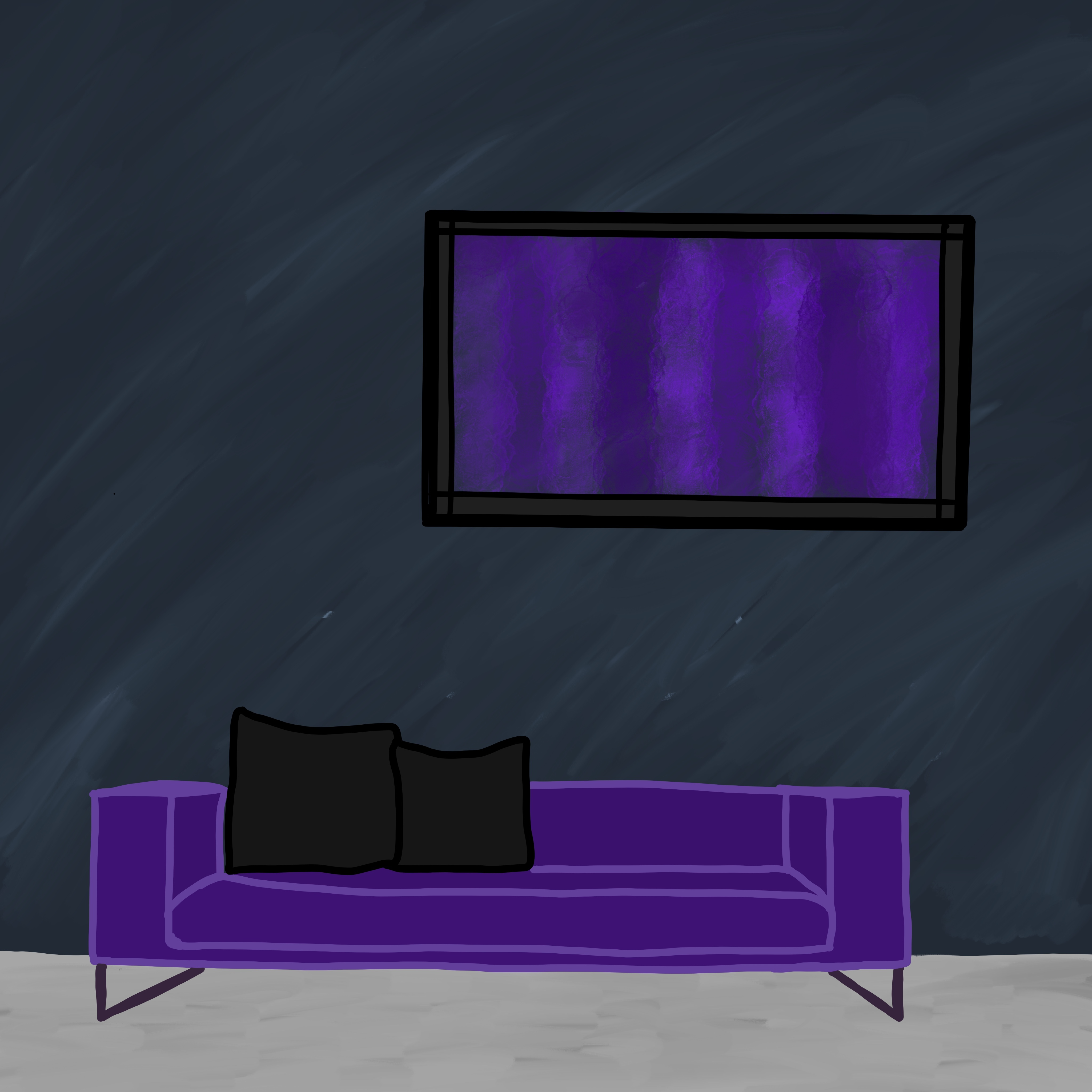 Couch Lila Lila Couch By Kratzdistel 2d Illustration