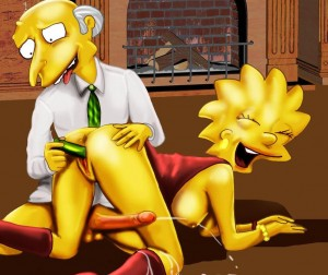 Lisa Simpson with dildo in pussy