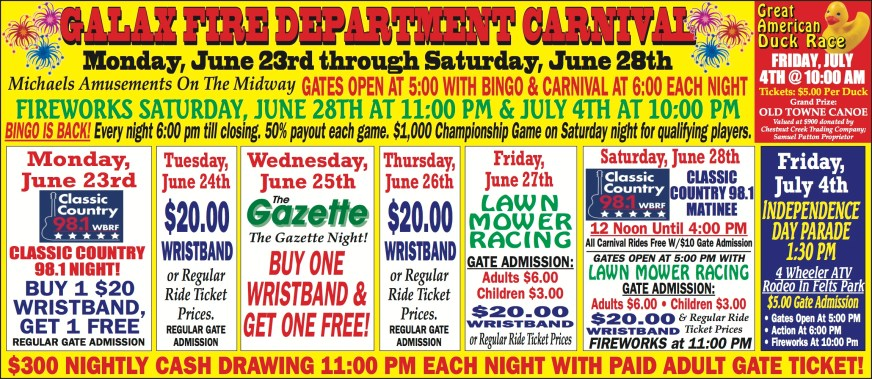 CarnivalSchedule