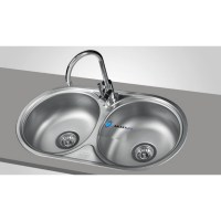 FRANKE ROUND DOUBLE 2.0 BOWL DRAINER & WASTE STAINLESS ...