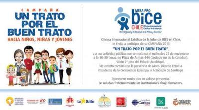 Mesa Católica por la Infancia lanza campaña por el Buen Trato