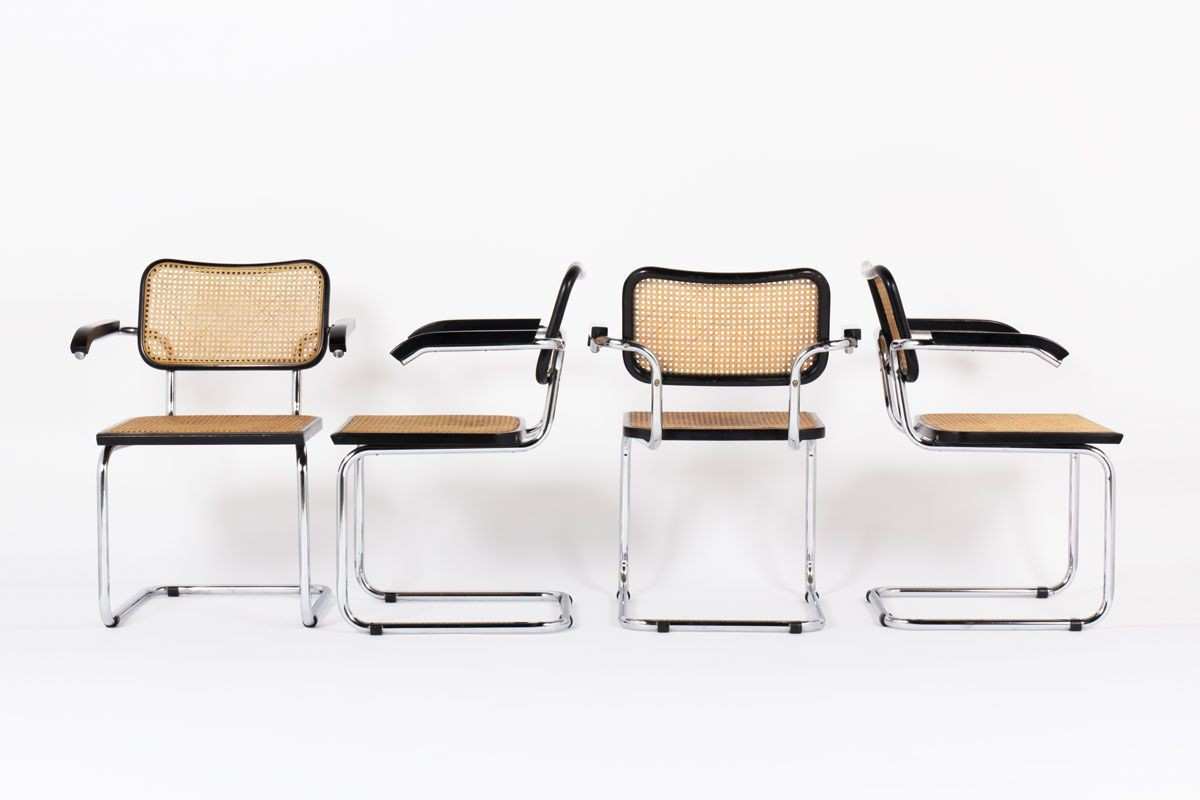 Marcel Breuer Iconic Piece Of Bauhaus Design, Armchairs B64 By Marcel Breuer