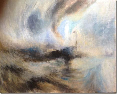 Toile n 3 temp te de neige en mer turner for Artiste peintre anglais