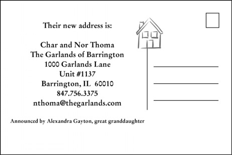 Address Change Postcard - keep those you want informed