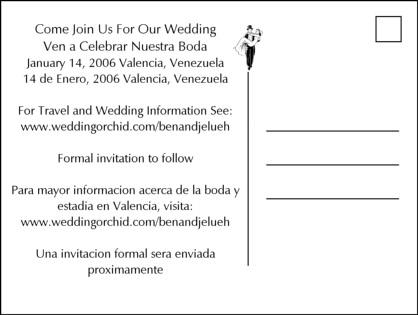 Sand Writing Wedding Save the Date Invitation Postcard - save date postcard