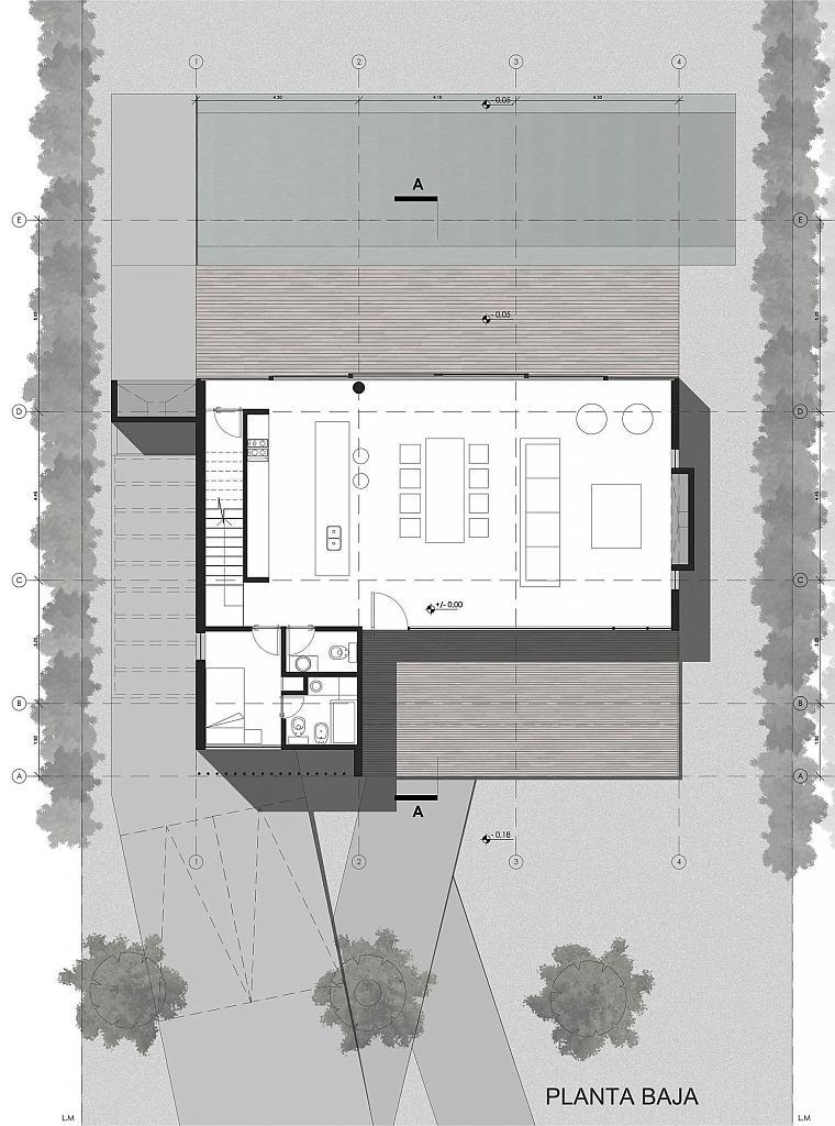 Современный семейный дом House FF в Буэнос-Айресе
