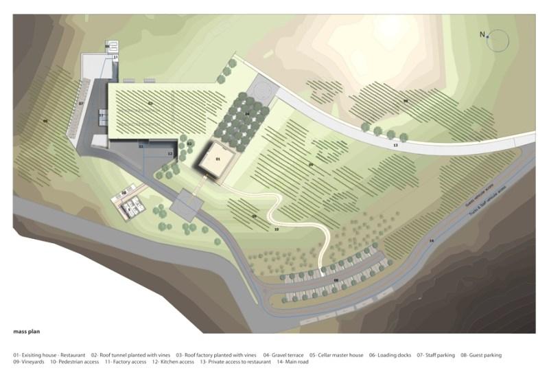 Архитектура винного завод в Ливане