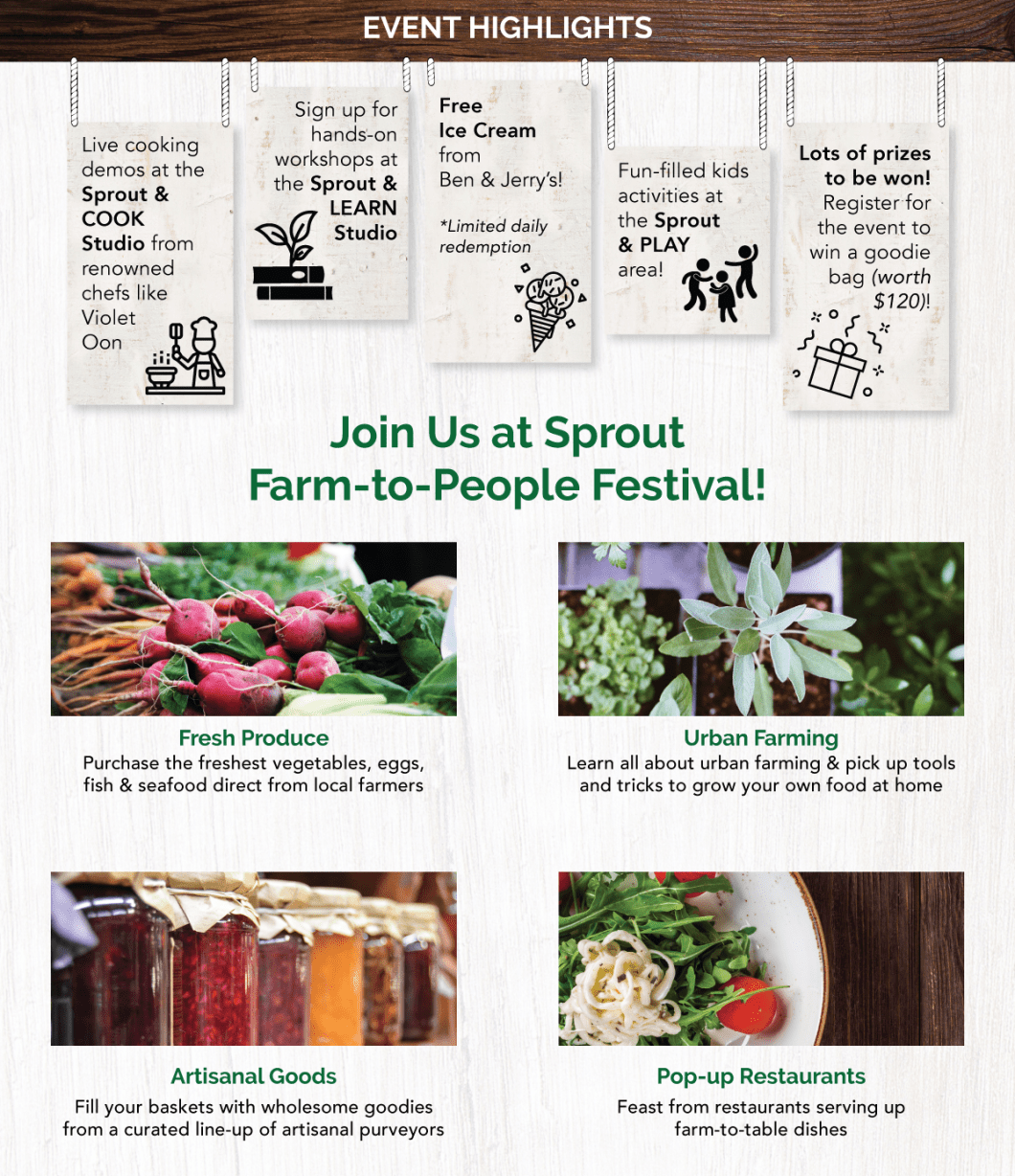 Event Highlights - Join Us at Sprout Farm-to-People Festival