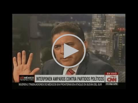 Demanda de amparo contra INE. Entrevista en Perspectivas de CNN