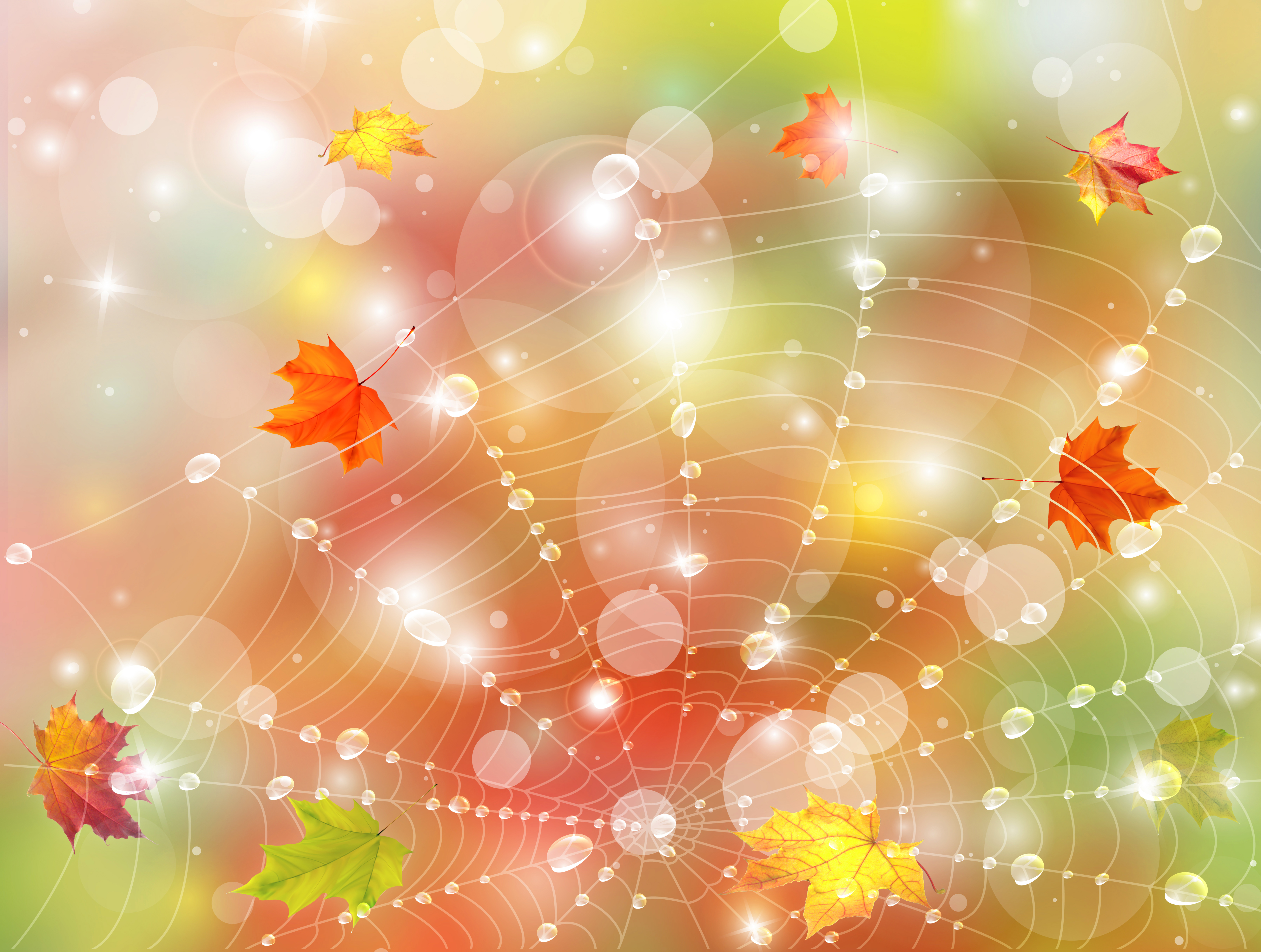 Fall Halloween Desktop Wallpaper Fall Background With Leaves And Web Gallery Yopriceville
