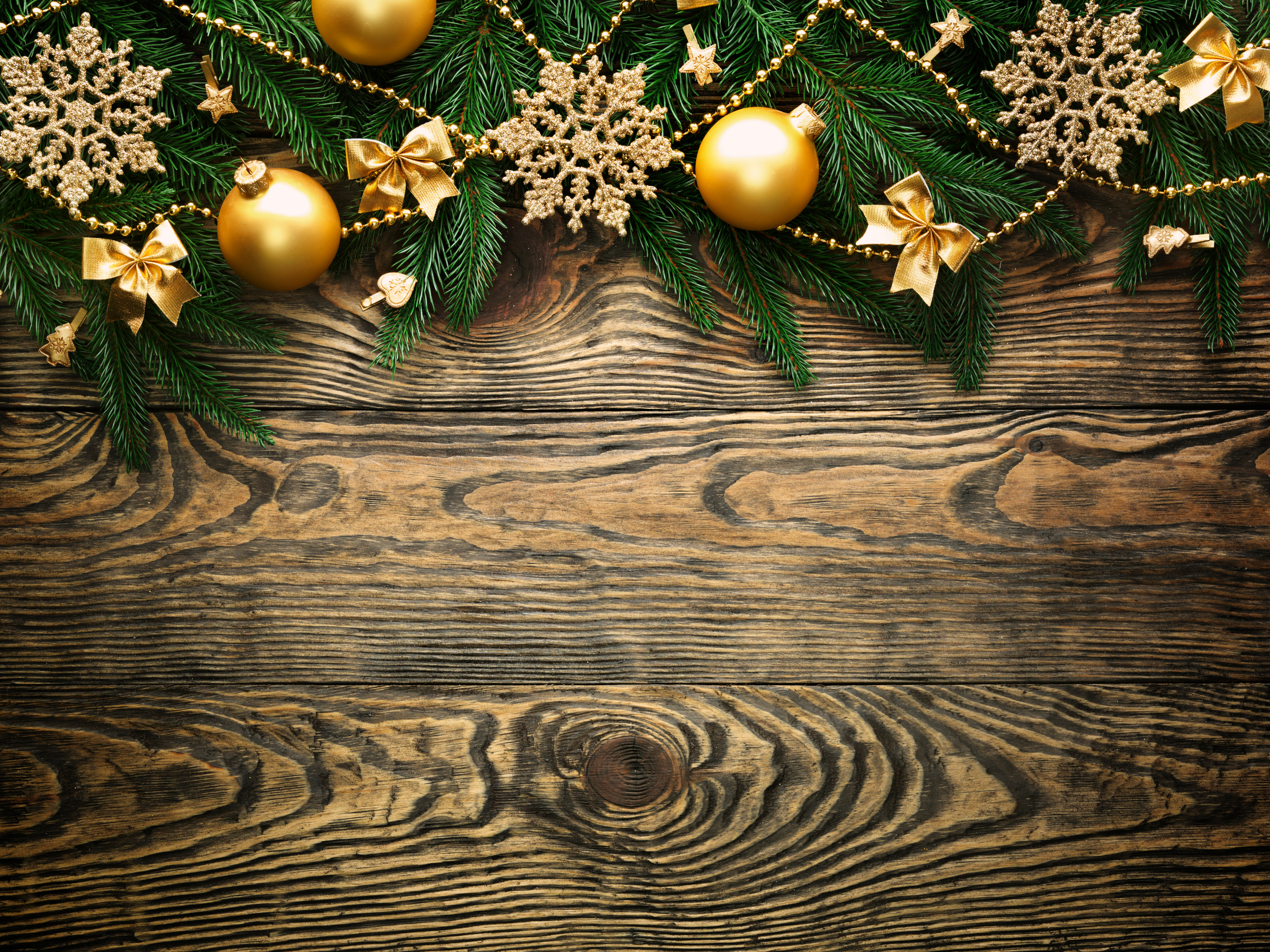 Fall Wooded Wallpaper Wooden Christmas Background With Gold Ornaments Gallery