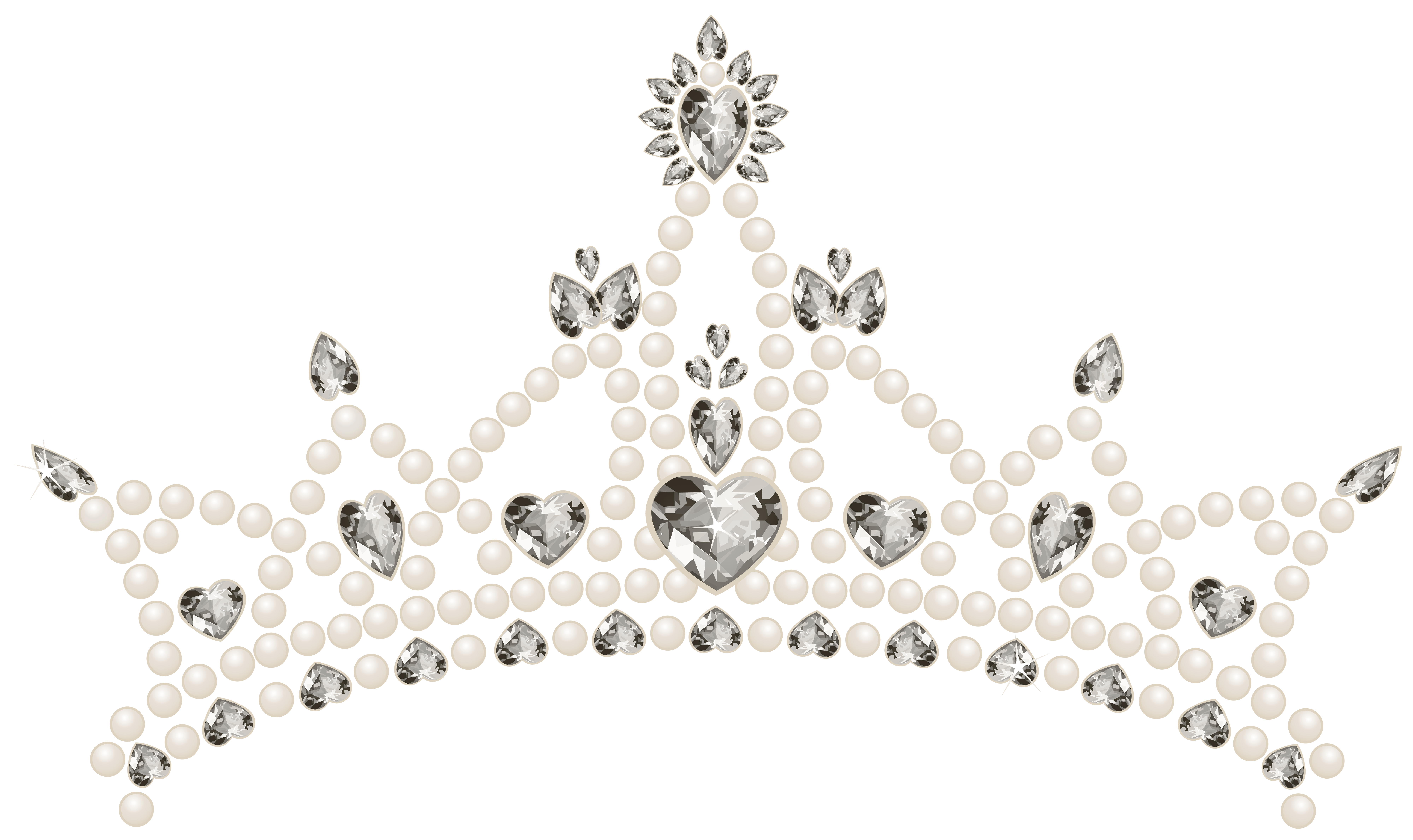 Tiara With Hearts Transparent Png Clip Art Image Gallery