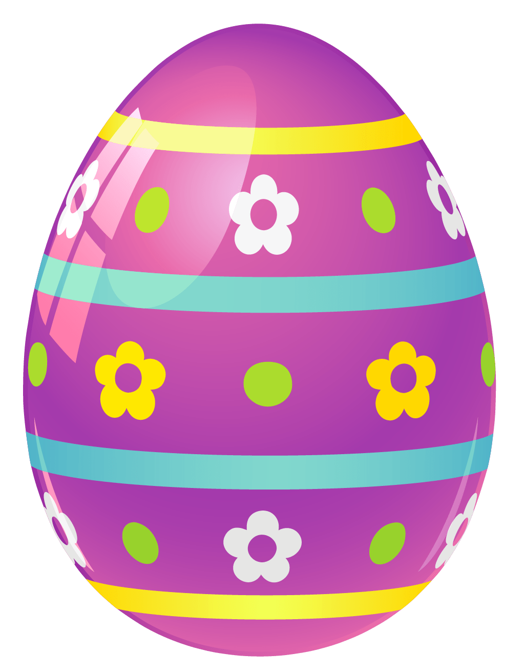 Easter Egg Purple Easter Egg With Flowers Png Picture Gallery Yopriceville