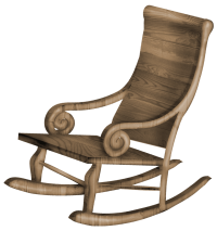 Transparent Rocking Chair PNG Clipart | Gallery ...