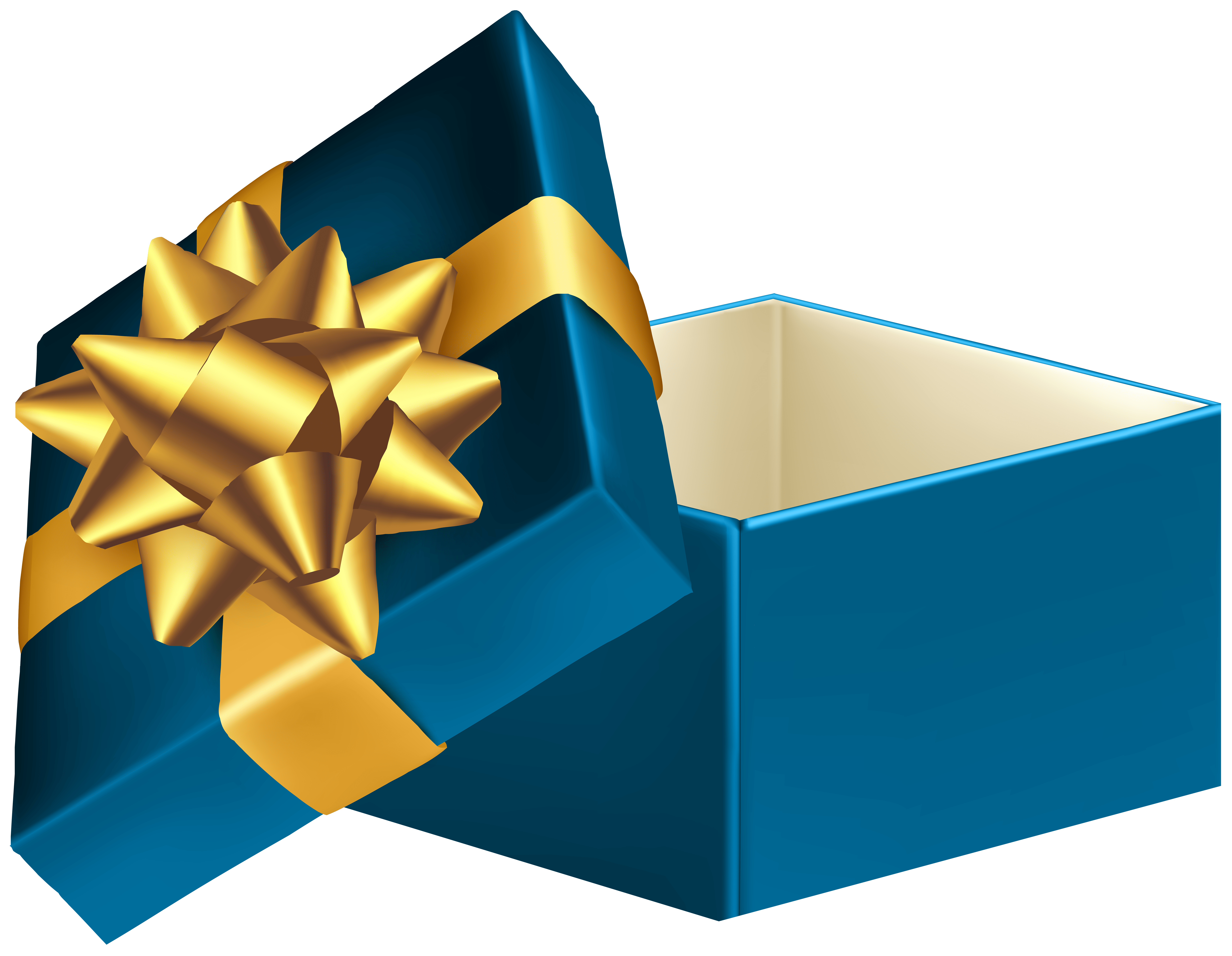 Blue Open Gift Box Png Clip Art Image Gallery