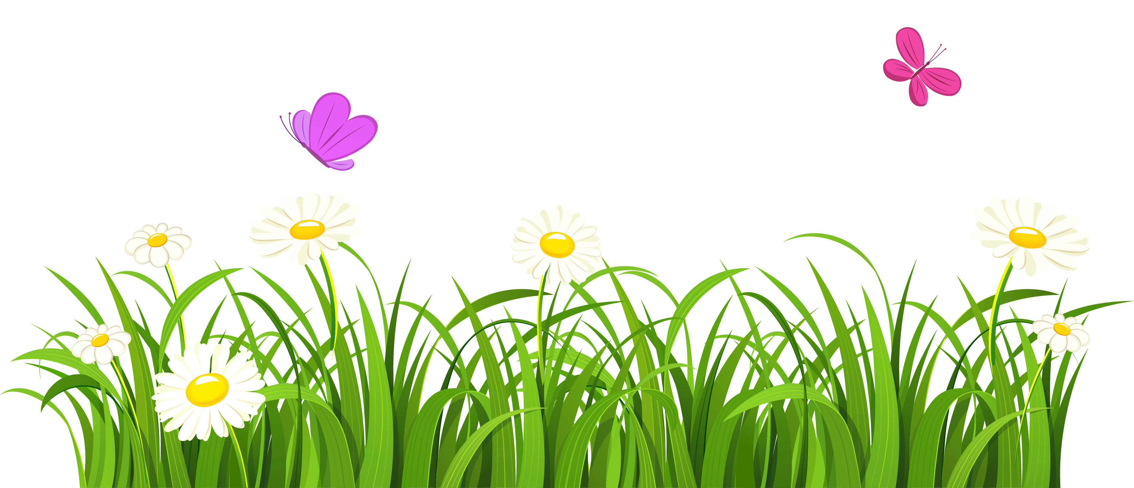Grass And Butterflies Png Clipart Gallery Yopriceville