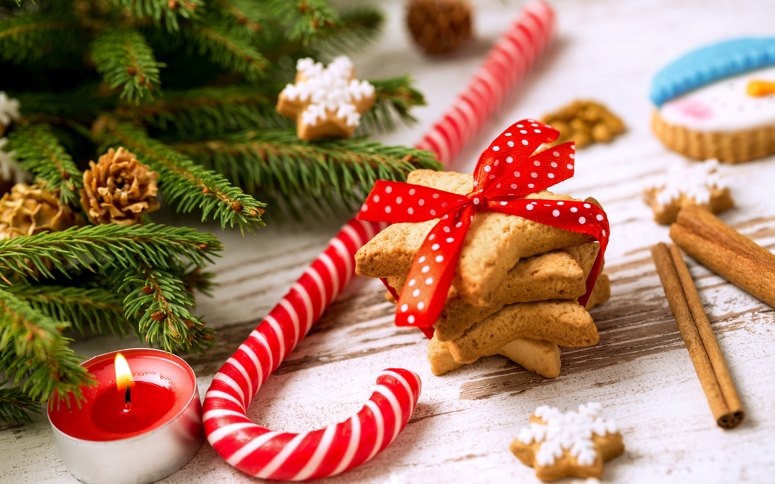 Sweet Cute Wallpapers Christmas Wallpaper With Candy Cane Gallery Yopriceville
