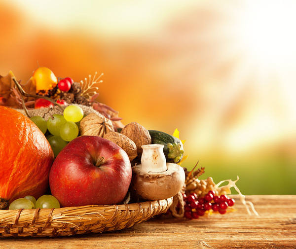 Fall Colored Background Wallpaper Autumn Fruits And Vegetables Background Gallery