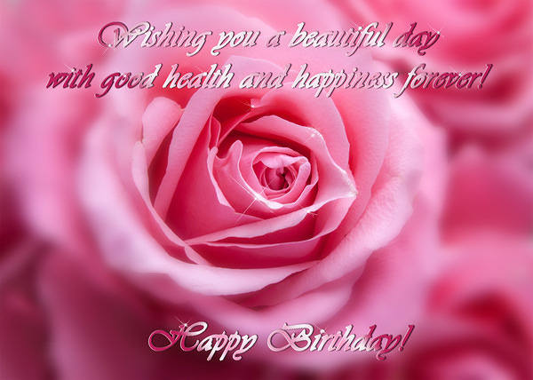 Wallpaper For Sister With Quotes Pink Rose Happy Birthday Card Gallery Yopriceville