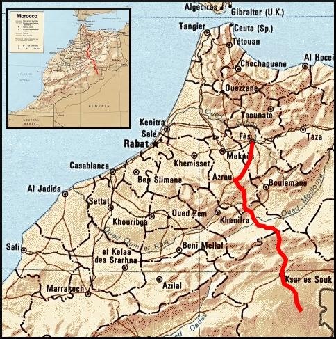 Route 1 in Morocco : Fes to Merzouga