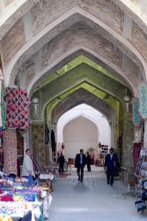 An alley in Bukhara's old marketplace