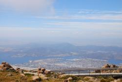 Hobart as seen from Mt. Wellington