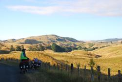 Admiring the view north of Masterton