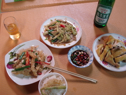 A typical Taiwanese meal