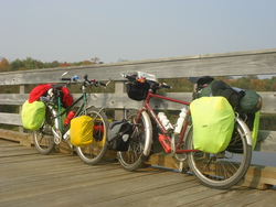 Our bikes on bridge
