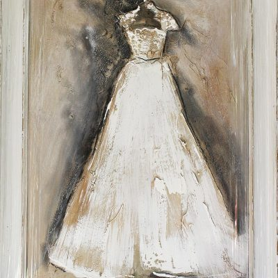 Leon De Klerk framed wedding dress on stand