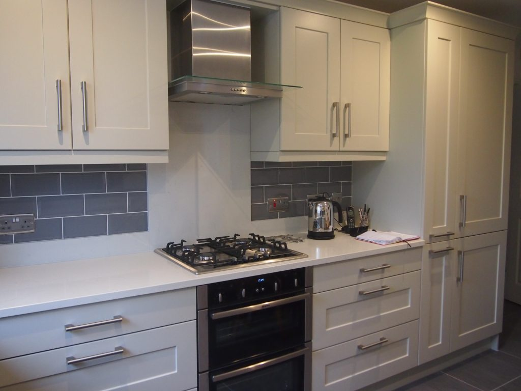 Fitted Kitchens Painted Mussel Shaker Fitted Kitchen The Gallery Fitted