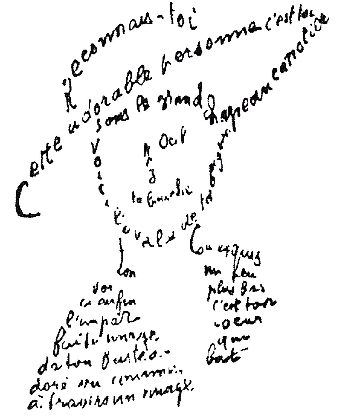 Poemas Libres Calligrammes Poems Of Peace And War By Guillaume Apollinaire