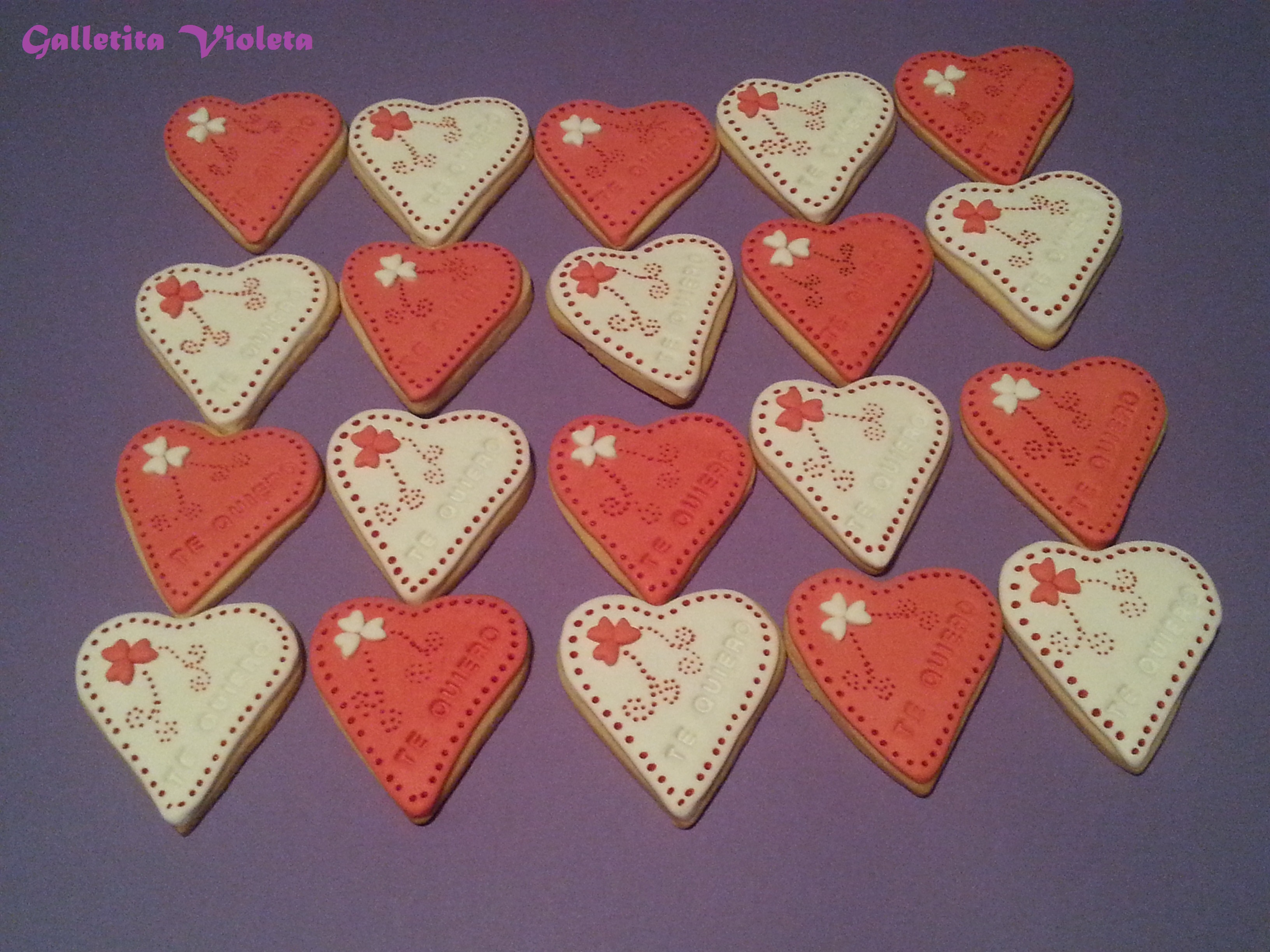 Galletas De Corazon Decoradas Galletas Decoradas Galletita Violeta