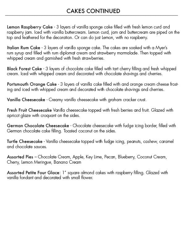 Cakes + Pastries \u2013 The Galley Hatch - apple consultant sample resume