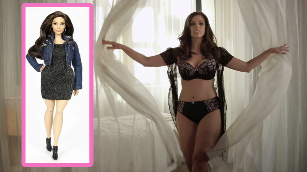 Girl With Wallpaper Dress Ashley Graham S Barbie Will Be The First Without A Thigh