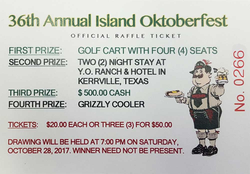 Raffle Ticket #0266 - raffle ticket prizes