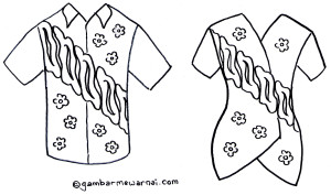 Mewarnai Gambar Baju