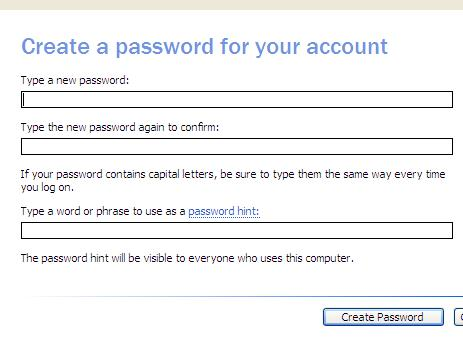 cara memberi password login pada windows xp