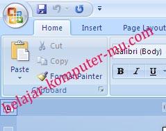 Cara menampilkan ruler pada Word 2007