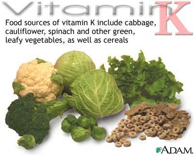 pengertian vitamin k - sumber vitamin k