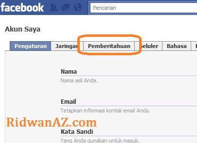 cara menghentikan kiriman email facebook