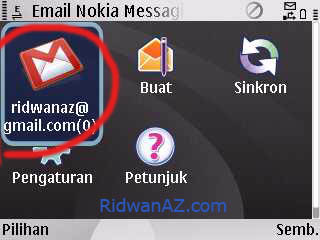 Cara Setting push e mail nokia e63 - Agar seperti Blackberry