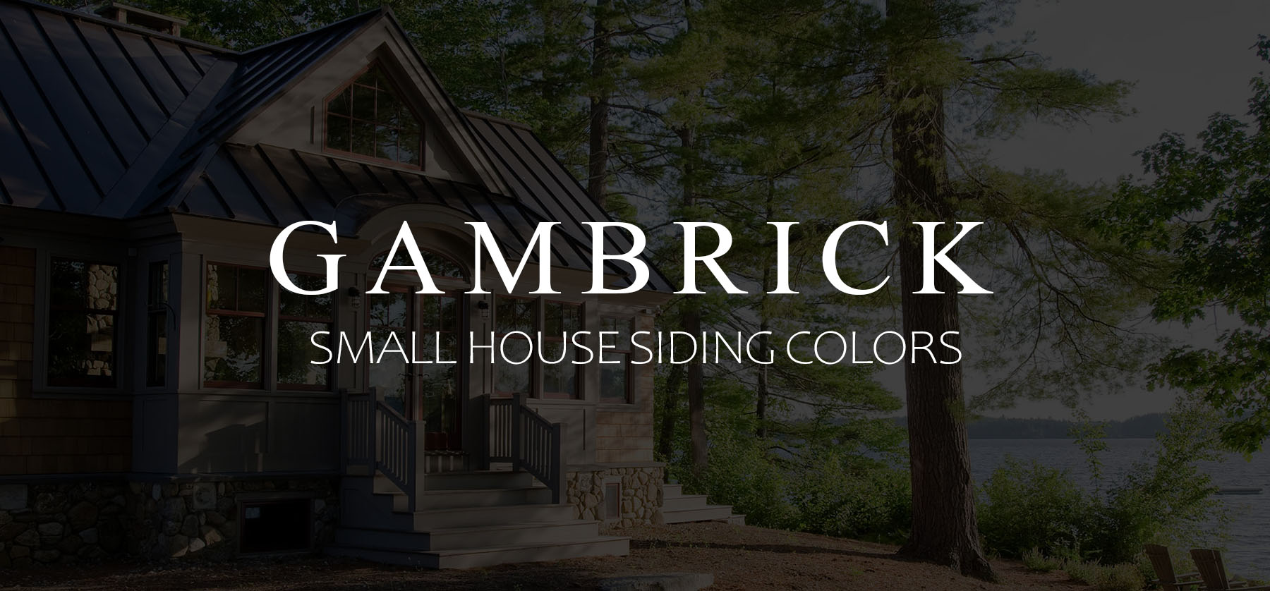 Top Small House Siding Colors Nj Custom Home Builder Gambrick