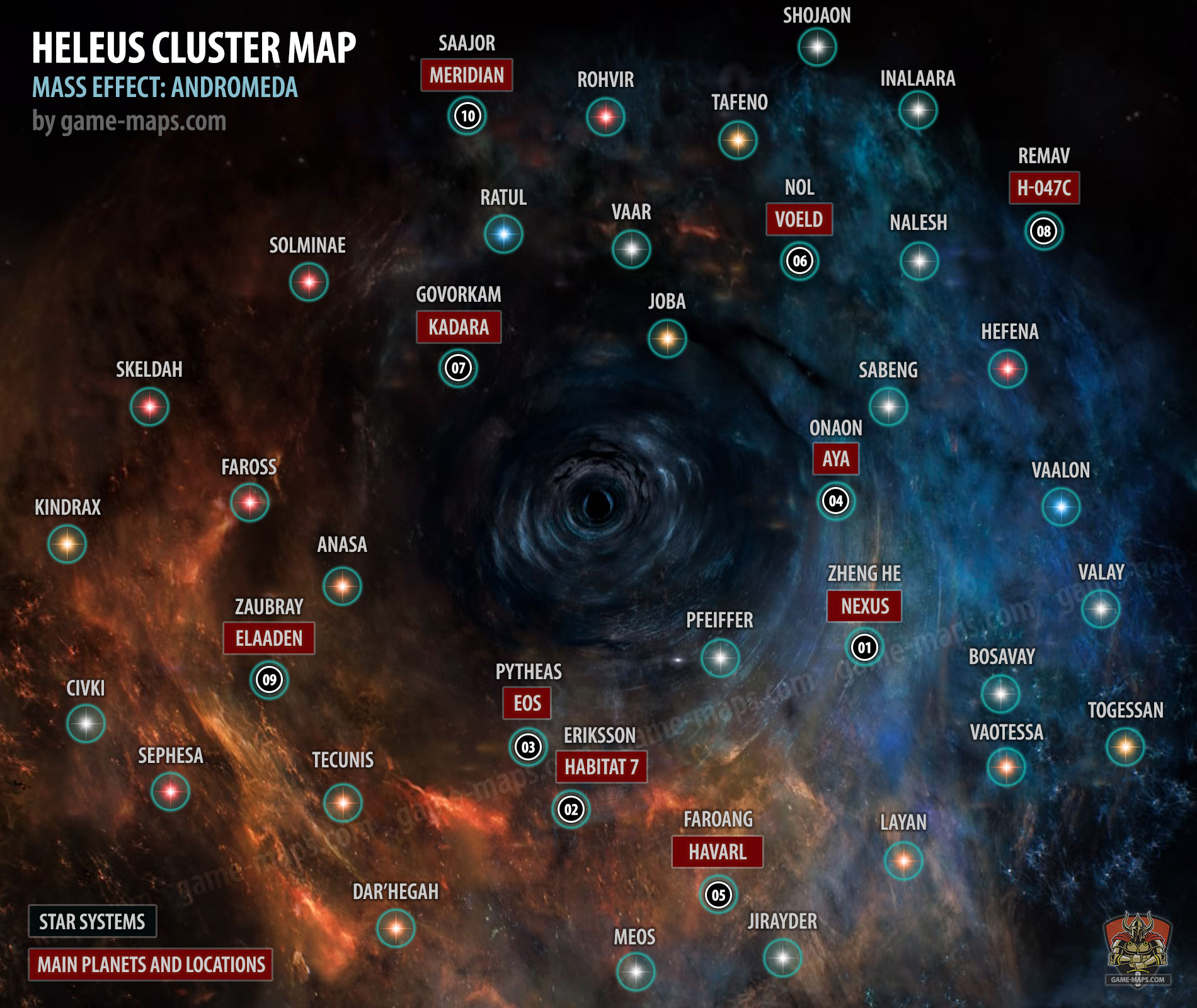 Mass Effectandromeda Heleus Cluster Map Mass Effect Andromeda Game Maps