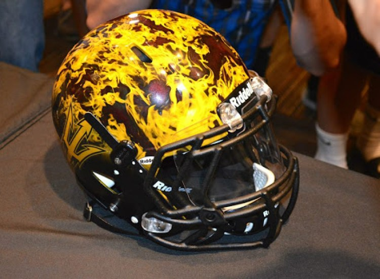 new arizona state sun devils helmets