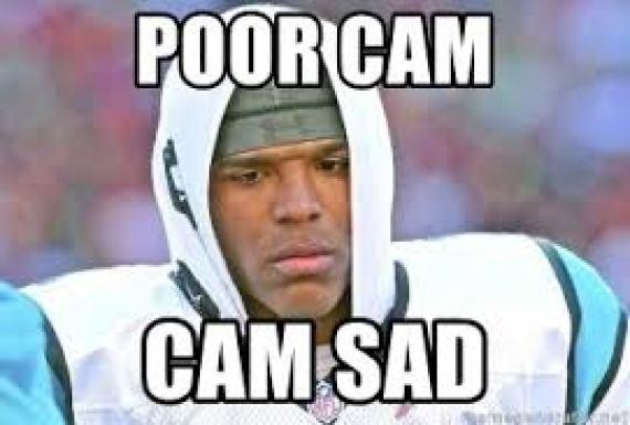 cam newton videobomb sad face memes