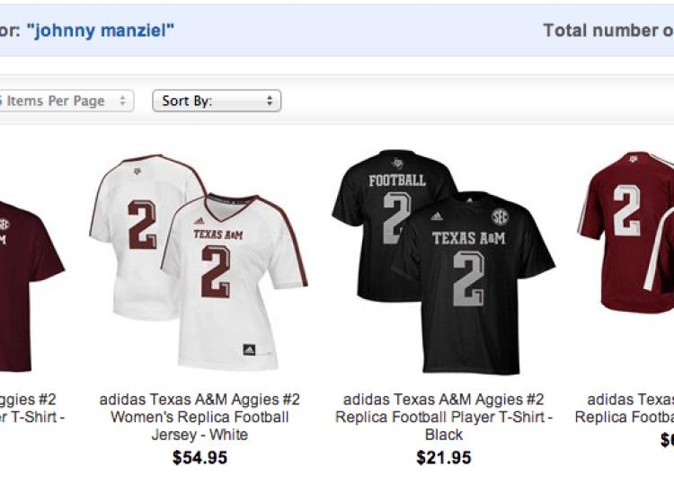 johnny football manziel ncaa shop shirt 4