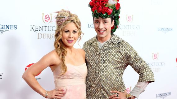 johnny weir tara lipinski gold head bands fashion