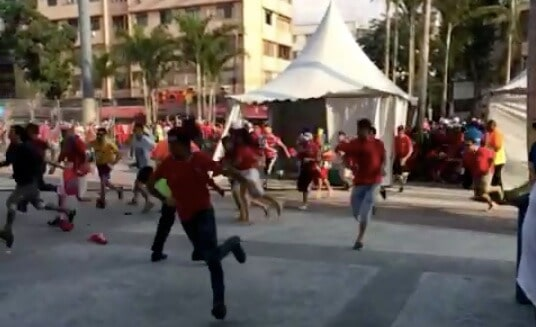 chilean fans break through world cup